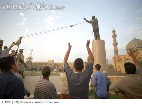 Hopes were high the day this statue fell in Baghdad.